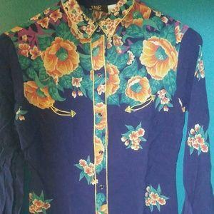 Vintage floral cowgirl shirt
